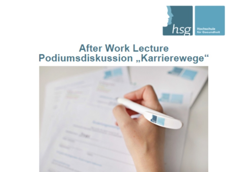 "17. April 2015 | After Work Lecture Podiumsdiskussion zum Thema ""Karrierewege"""